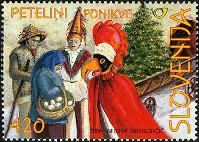 Les déguisements les plus connus en Slovénie sont les mačkare et les petelini de Dobrepolje (Ljubljana), les škoromati de Hrušica, les laufarji de Cerklje, les kurenti de Ptuj et biens d'autres …