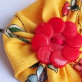 Tuto Barrette Yoyo en tissu - DIY Yoyo Flower Fabric Hair pin