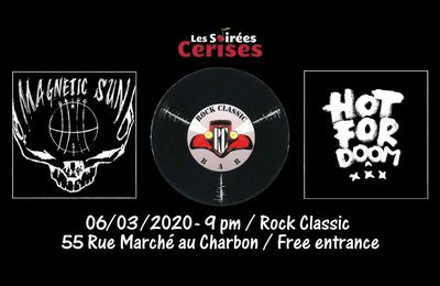 🎵 Hot For Doom (B/UK) + Magnetic sun @ Rock Classic - 06/03/2020 - 21h00 - Entrée gratuite