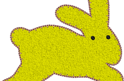 Lapin country applique