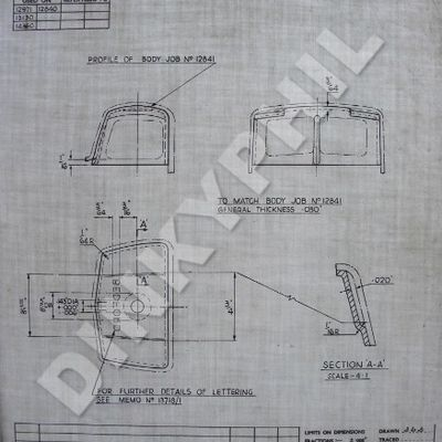 DINKY GB BEDFORDS - Part 3 : Review of the Dinky Toys factory drawings