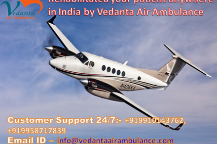 Easily booking Vedanta Air Ambulance in Patna at competitive charge