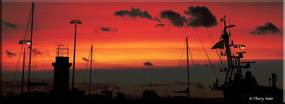 Les couchers de soleil en panoramique