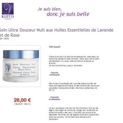 Quels sont les promesses et les résultats  du produit Soin Douceur Jour de Kiotis sur la peau ?