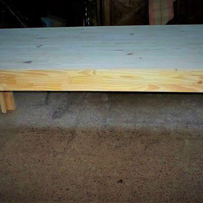 grande table de repas de ferme bois brut
