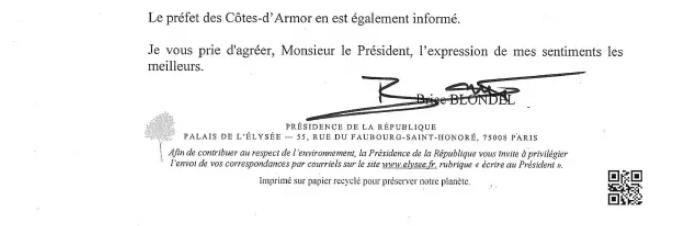 Réponse d'Emmanuel Macron aux pécheurs