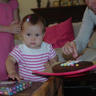 Domitille fête son premier anniversaire