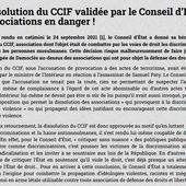 La dissolution du CCIF validée par le Conseil d'État : les associations en danger !