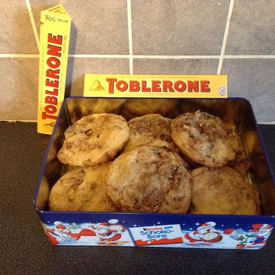 Cookies au tobblerone