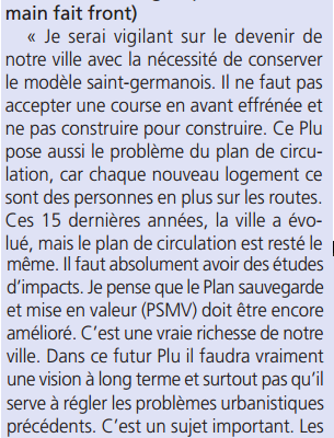 "Modification du PLU : ""Les oppositions sur le qui-vive"" [Article du Courrier des Yvelines]"