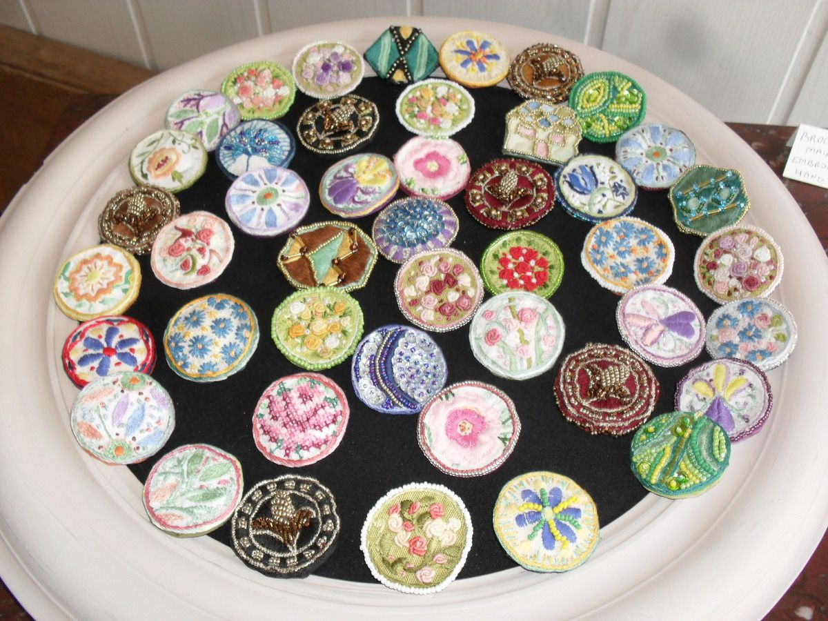 Hand made brooches