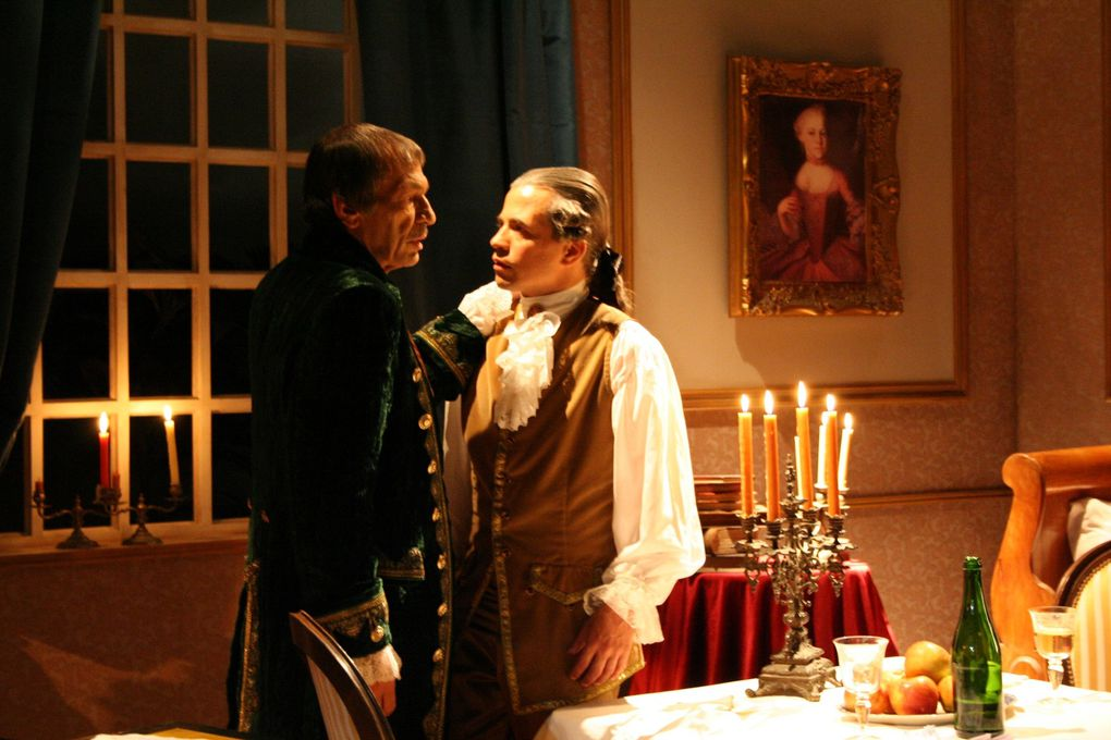 For the Portugase Television I have creat set costumes and props for the play Mozat/Salieri. This is one of the three movies I did this year.