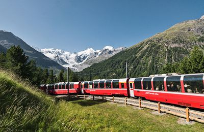La Suisse et son train de légende : Le Bernina Express.