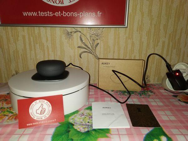 test du chargeur sans fil par induction Qi 5 Watts - Aukey LC-C6 @ Tests et Bons Plans