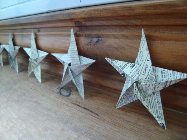 Etoiles de Noël en origami