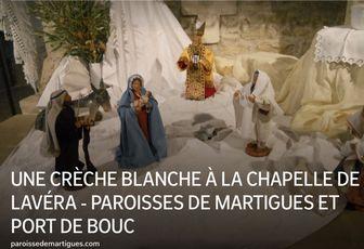 UNE CRÈCHE BLANCHE À LA CHAPELLE DE LAVÉRA