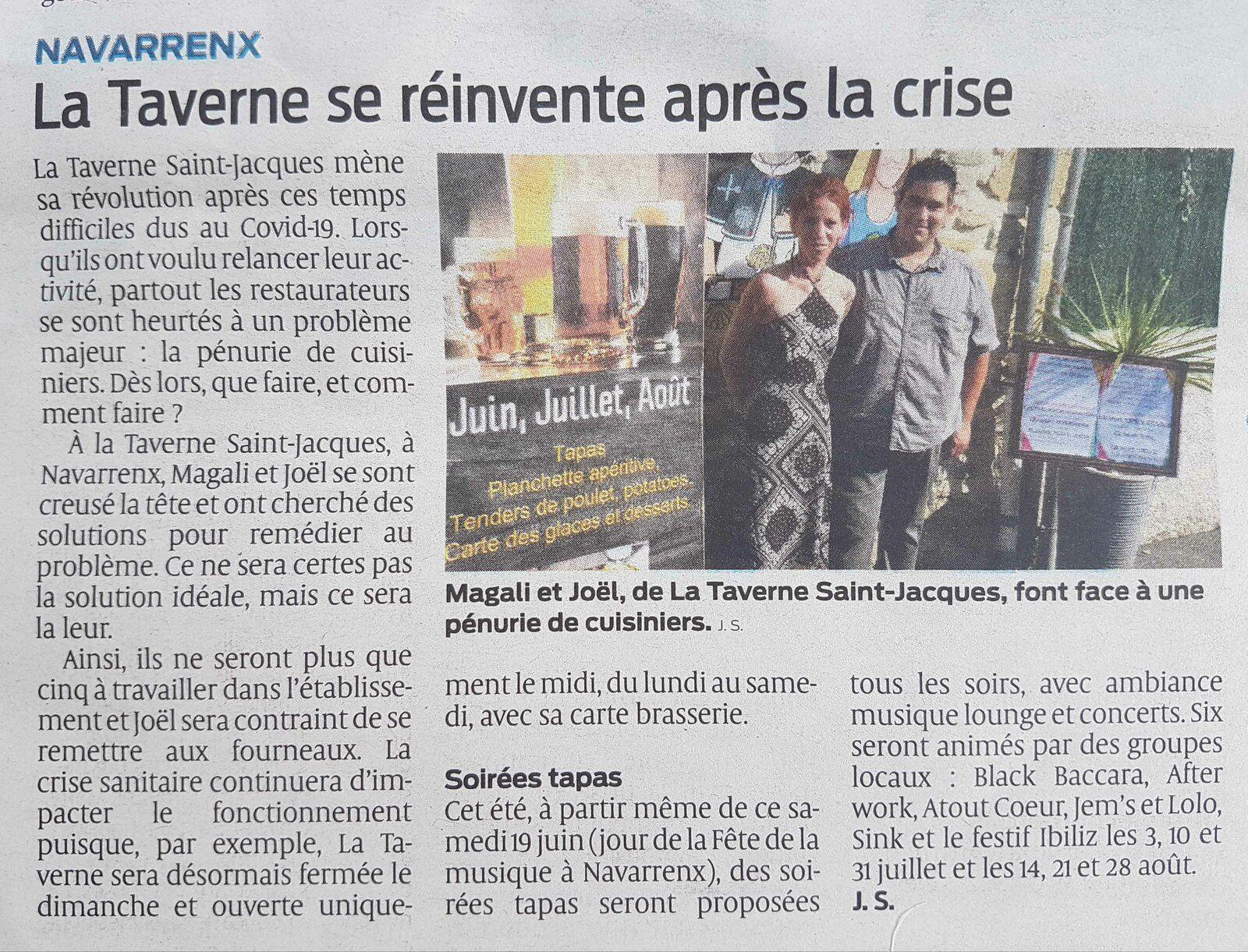 Article de Jean Subercazes dans le journal Sud-Ouest du 19 juin