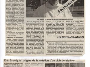 OUEST FRANCE DECEMBRE 2017 #StJeandemonts #triathlon #club #Vendée