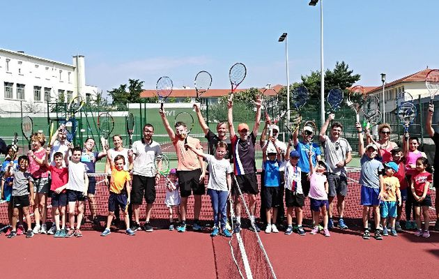 On a fêté le  tennis au Moulin à Vent
