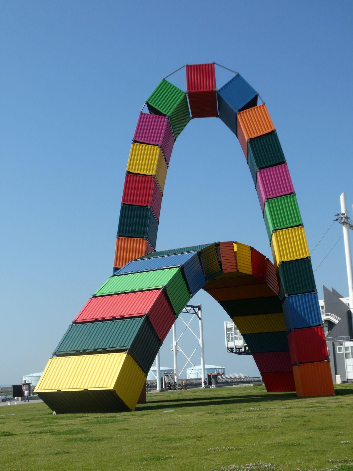 de conteneurs /Vincent Ganivet /Le Havre...