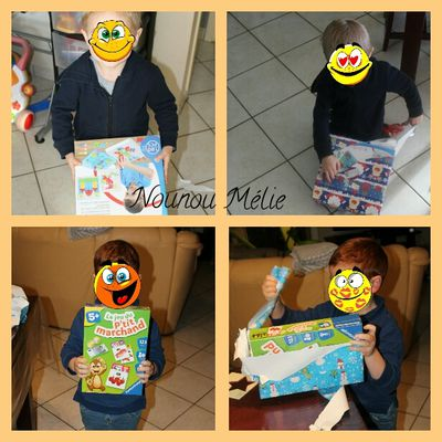 Distribution des derniers cadeaux de Noël de chez nounou pour les deux loulous qui n'ont malheureusement pas pu être présent à l'arbre de Noël 😀