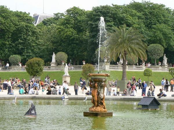 Promenade dans le jardin et à l'exposition 'Art Sénat : Du vent dans les branches'.