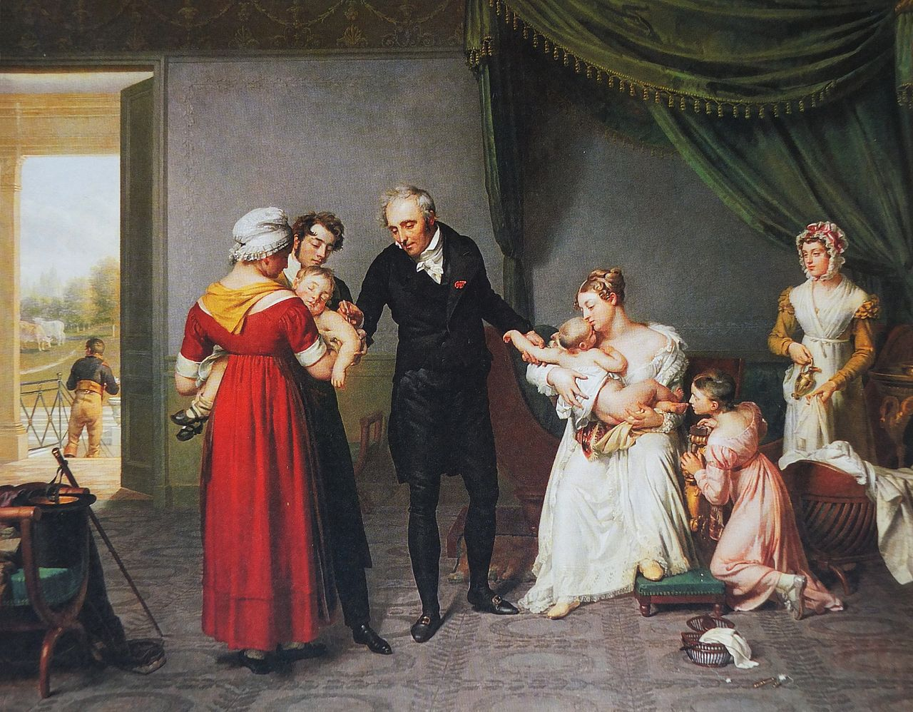 vaccination: tableau de Desbordes