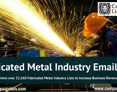 Be popular, be global with the Fabricated Metal Industry Email List