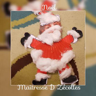 Noël : Bricolage du Père Noël avec des coquilles Saint Jacques
