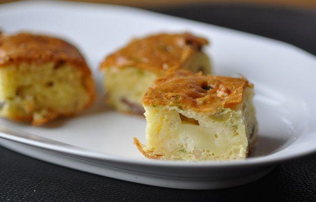 cake salé magret chèvre et pignons de pin