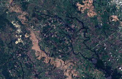 Copernicus : le satellite européen Sentinel-2B et les inondations au Texas
