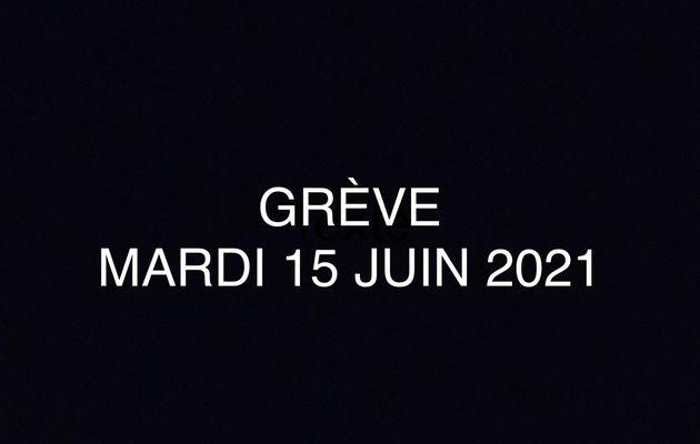GREVE DU MARDI 25 JUIN 2021