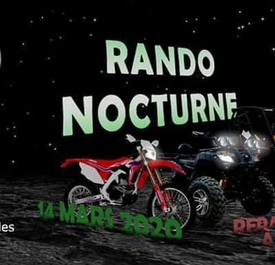 Rando moto quad semi-nocturne le 14 mars 2020 du Moto Quad d'Albret à Mezin (47)