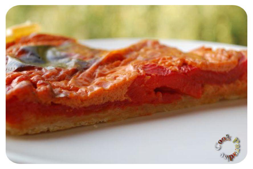 Tarte salée- poivrons-tomates-entrée-plat-amuses bouches-pique nique