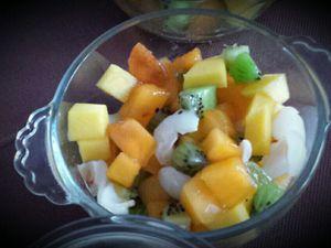 Coupes de fruits exotiques