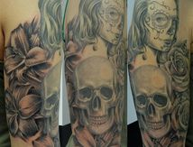 flowers-skull-woman-tattoo