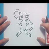 Como dibujar a Mew paso a paso - Pokemon   How to draw Mew - Pokemon