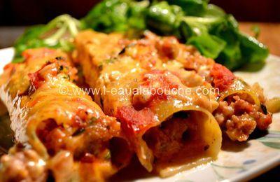Cannelloni au Porc et aux Courgettes
