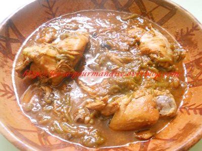 Tchektchouka  de poivrons grillés au poulet