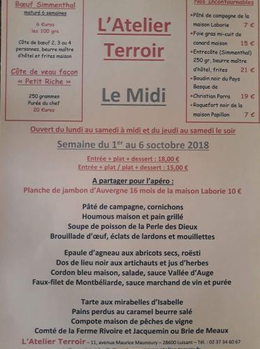 Chartres-Luisant : L'Atelier Terroir et la semaine gourmande, ça vous dit quelque chose ?