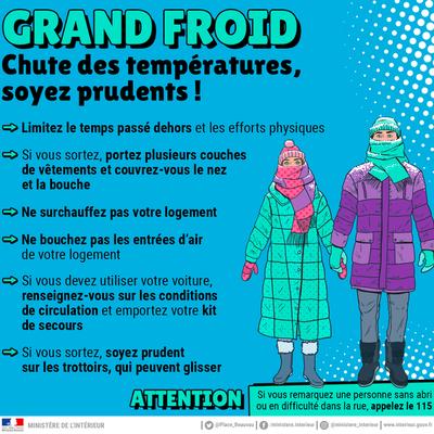 #GRANDFROID : le dispositif de mise à l'abri reste activé dans le Cantal
