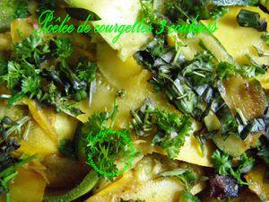 Poêlée de courgettes aux trois couleurs aux herbes fraîches du jardin Jaclyne www.cuisineetgourmandise.fr