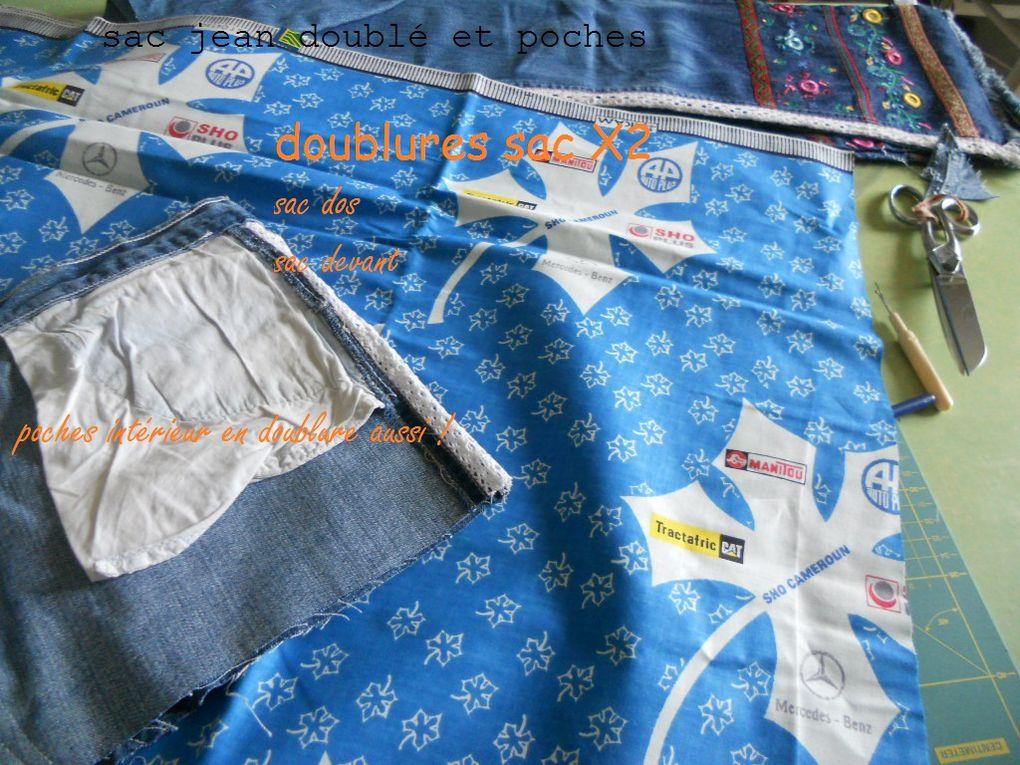 préparation de l'intérieur du sac doublure et poches !