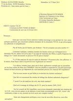 Chimirec et Vicat à Bouvesse Quirieu : Réponse Jean Pierre FORAY Chef de l'unité territoriale de l'Isère DREAL