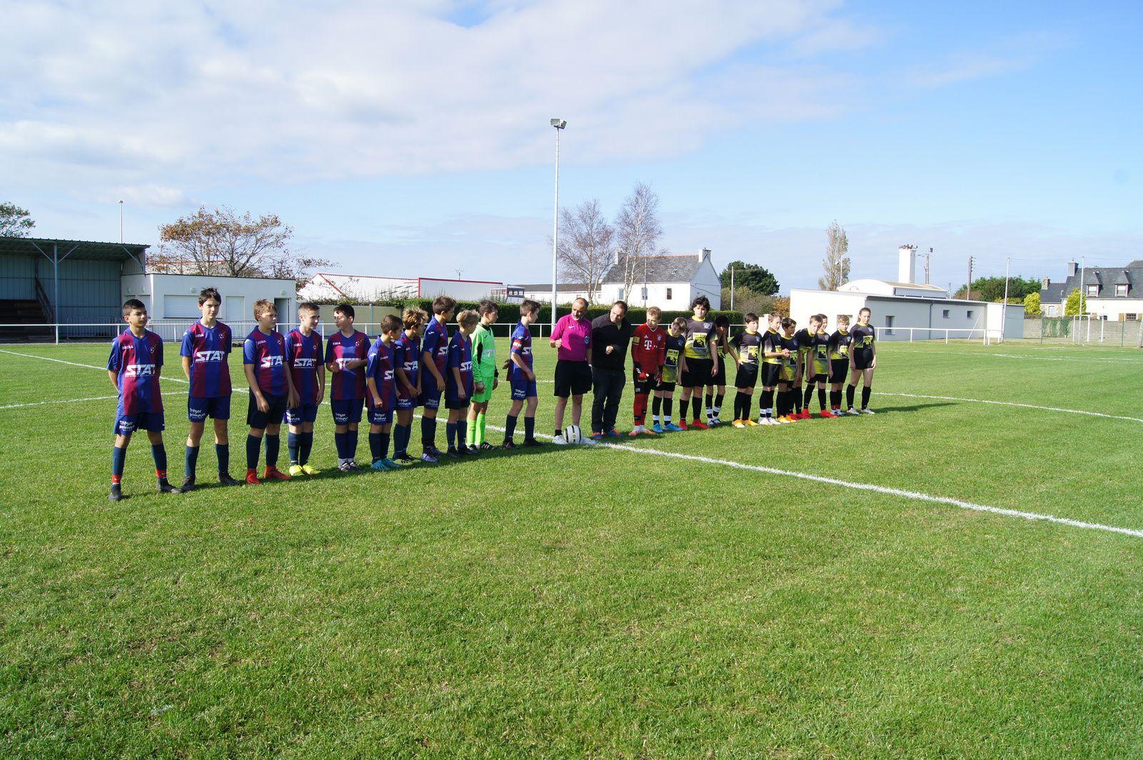 l'équipe U14 à droite