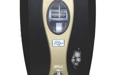 AQUA LIBRA Water Purifier RO+UV+Uf+Tds Control with Active COPPERTechnology (Black and Golden