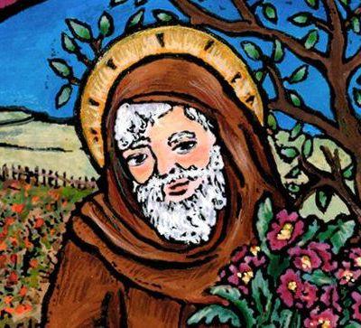 Vie & coloriages de saint Fiacre