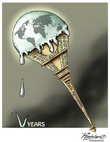Viñeta: Antonio Rodríguez (A 5 años del Acuerdo de París sobre el Clima)