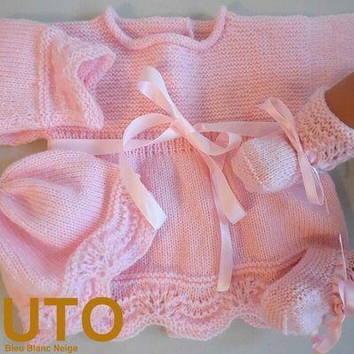 Tutoriels layettes tricot laine bébé fait-main