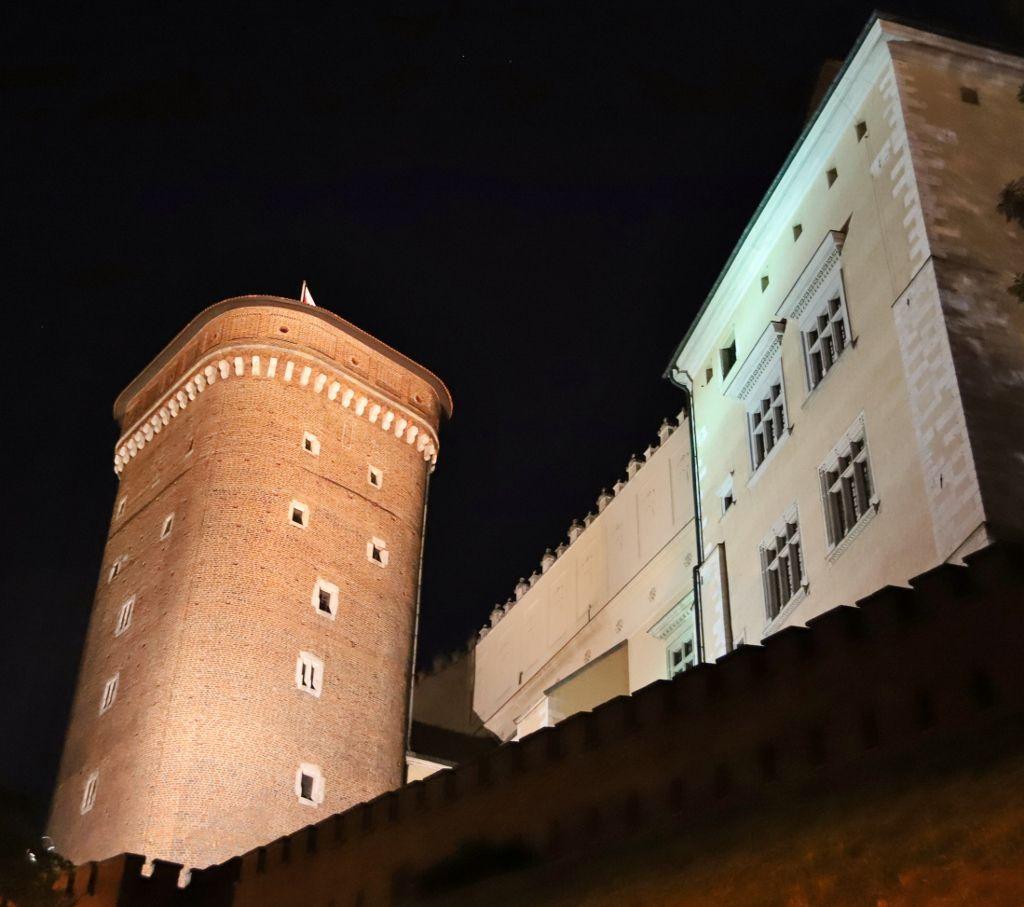Château Wawel by night Cracovie Pologne